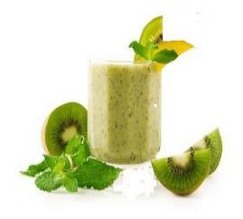 Low calorie kiwi melon smoothie